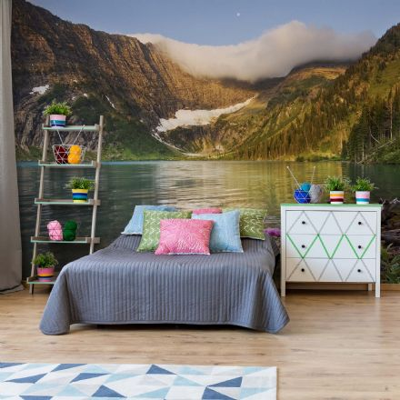 "Easy to Install wallpaper ""Mountain Lake"""